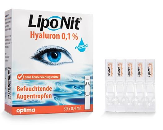 Lipo Nit Hyaluron 0,1% mono Augentropfen/Benetzung - 30x0,4ml