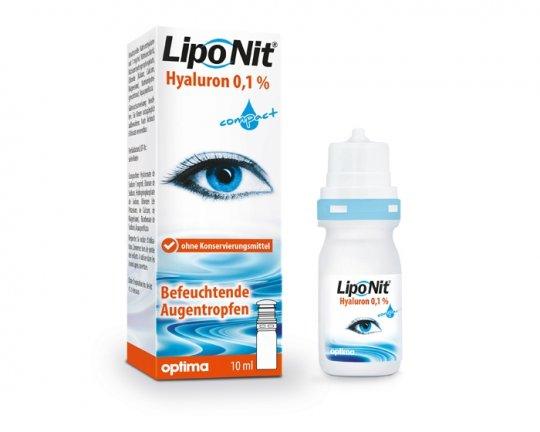Lipo Nit Hyaluron 0,1% compact Augentropfen/Benetzung - 10ml