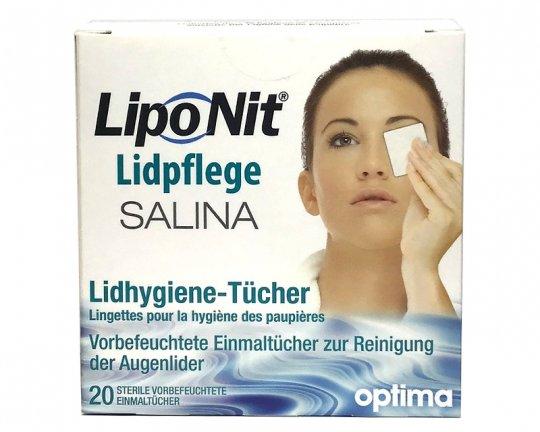 Lipo Nit Lidpflege Salina - 20 Lidhygiene-Tücher