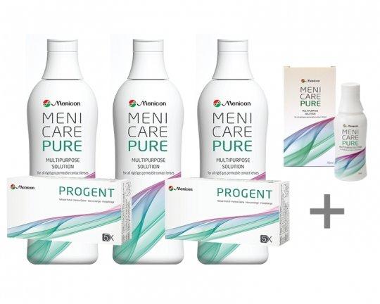 MeniCare Pure 3x250ml + 2xProgent + Reiseset 70ml