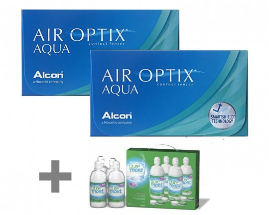 Air Optix Aqua 2x6er + Opti-Free Puremoist 4x300ml