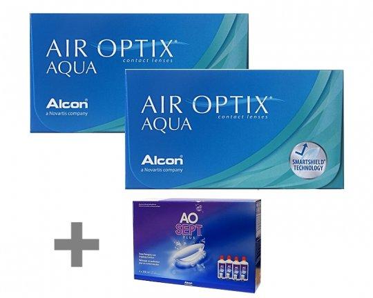 Air Optix Aqua 2x6er + AOSept Plus 4x360ml