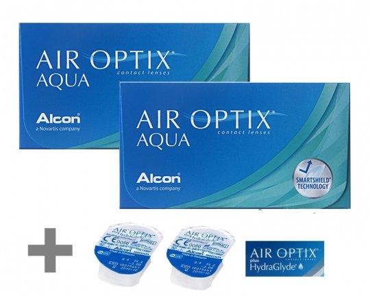 Air Optix Aqua 2x6er + 2x1 Air Optix HydraGlyde