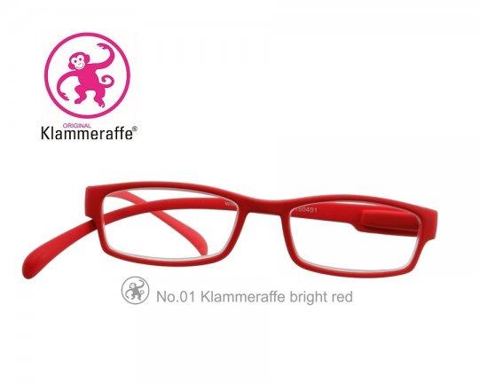 Lesebrille Klammeraffe No. 01 - bright red