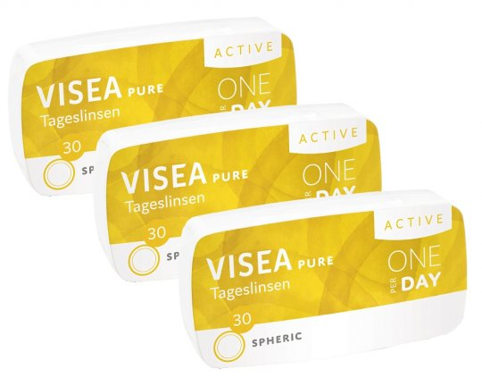 VISEA Pure Active Tageslinsen 90er-Pack