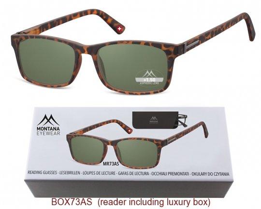 Lesebrille Montana MR73AS Sonnenbrille mit 85% Grün Tönung