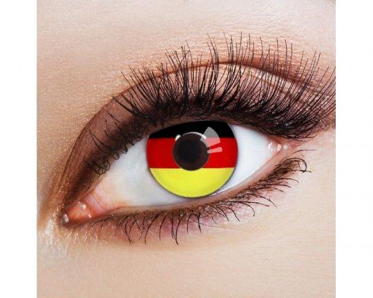 Deutschland Flagge (656) - 1 Paar inkl. Pflegeset