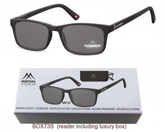 Lesehilfe Montana MR73S Sonnenbrille mit 85% Grau Tönung
