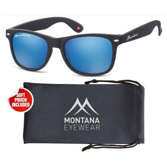 Montana MS1A-XL - schwarz/blau-verspiegelt