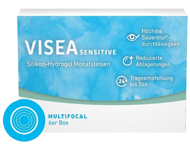 offizielle Bilder Verarbeitung finden angenehmes Gefühl VISEA Sensitive Monatslinsen Multifocal 6er-Pack